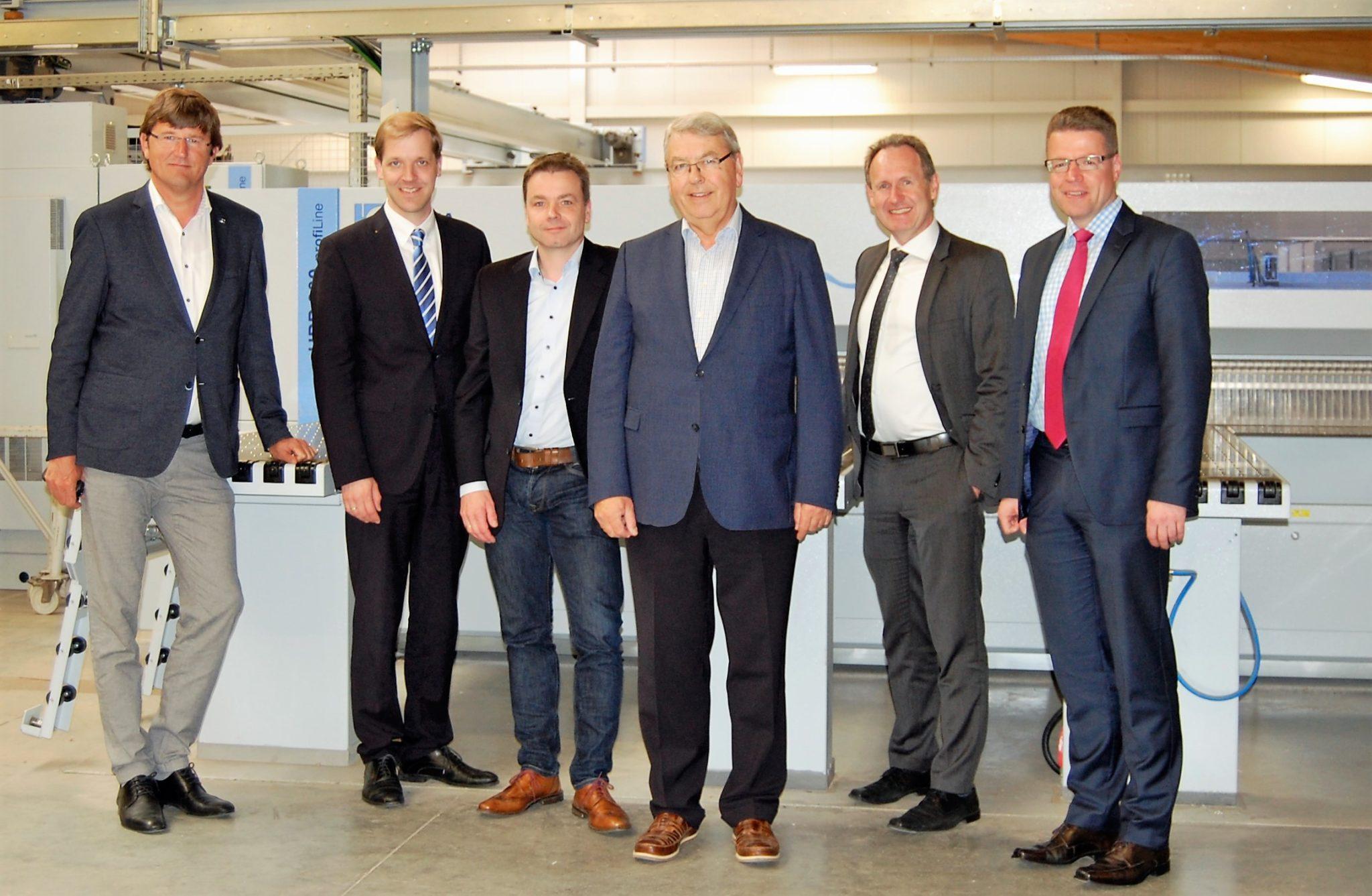Landrat Schulze Pellengahr und wfc Kreis Coesfeld zu Besuch bei Hoffmann Ladenbau in Rosendahl