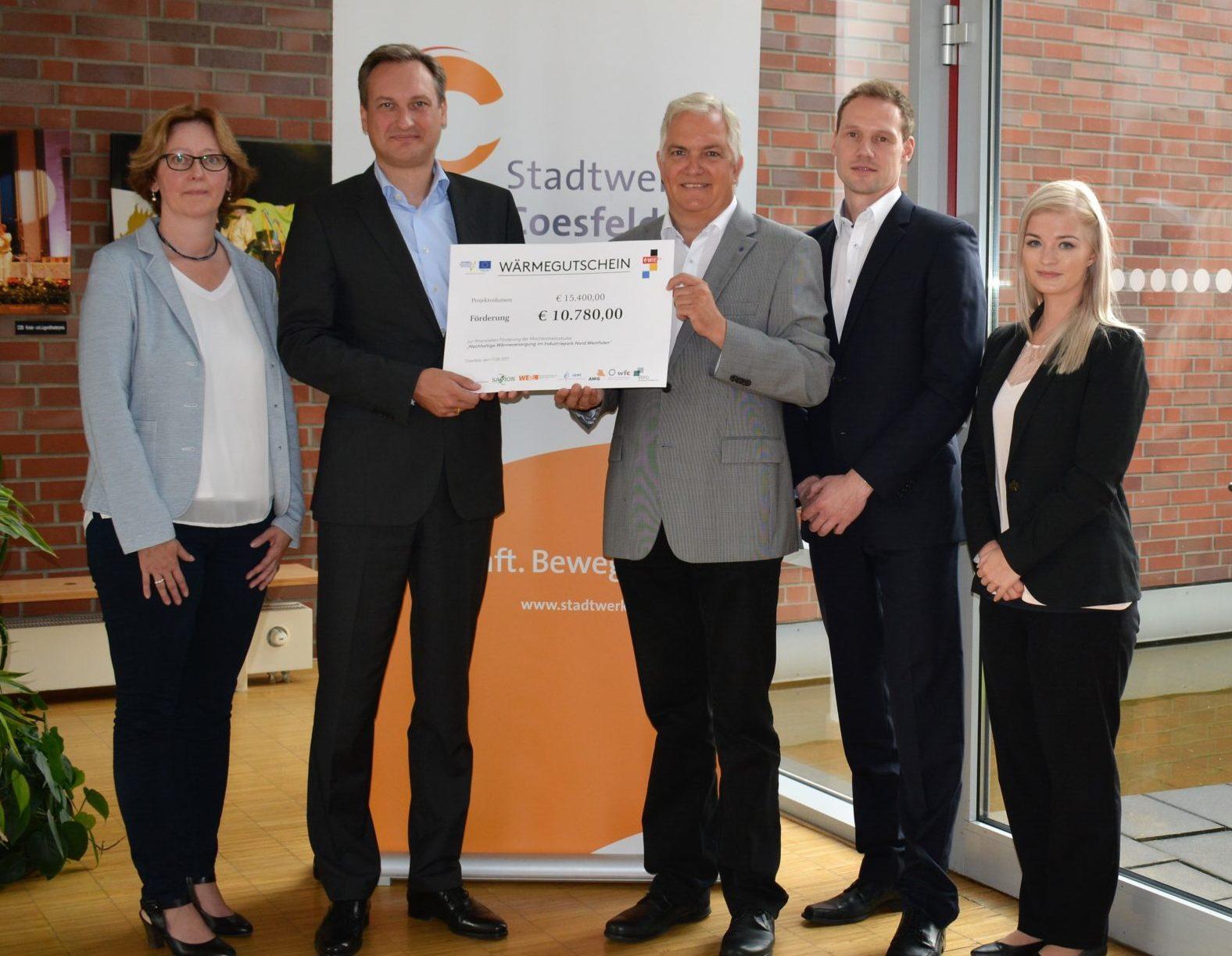 Stadtwerke Coesfeld GmbH erhalten Förderung für Machbarkeitsstudie zur nachhaltigen Wärmeversorgung